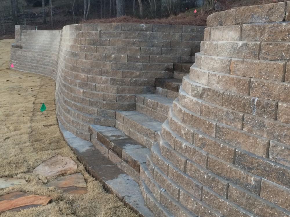 185 Feet Long 6 Feet Tall Irrigation Wall At Lay Lake Al