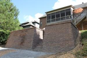 Retaining wall constructed in Pelham, Al