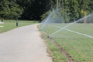 Irrigation installation at Loch Haven Park, Hoover, Al