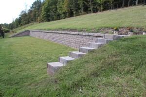 Retaining wall installed in Pelham, Al